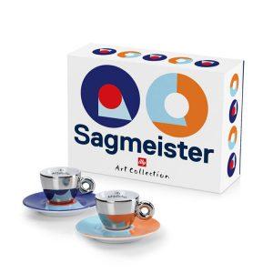 Set Tazzine espresso Illy art collection sagmeister