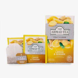 scatola zenzero e limone con filtri